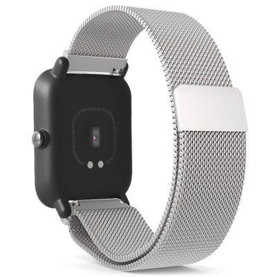 TAMISTER 20mm Magnetic Mesh Watch Belt for AMAZFIT Youth Bit