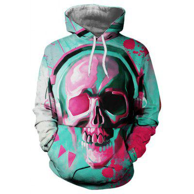 3D Printing Men Pullover Hooded Sweater
