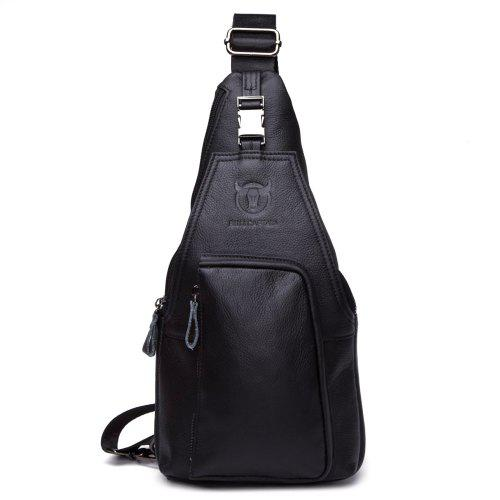 c72b5962f49a BULLCAPTAIN Men Anti-theft Genuine Leather Shoulder Bag -  26.71 Free  Shipping