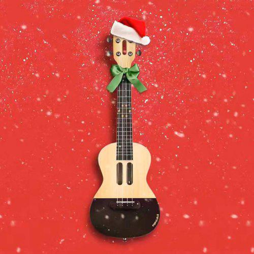 Xiaomi Populele APP LED Bluetooth USB Smart Ukulele 1pc CREAM CHRISTMAS SUBJECT