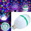 Christmas Night Party Colorful Rotating Light Bulb - WHITE