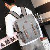 Retro Travel Backpack Casual Canvas Student Bag - GRAY CLOUD