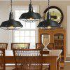 YWXLight American Industrial Style Retro Bar Coffee Single Head Ceiling Pendant Lamp Wrought Iron - BLACK