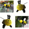 Little Bee Car Exterior Decoration Antenna Ball - YELLOW