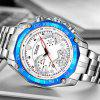 Temeite 004G Three-eye Steel Belt Men Sports Calendar Waterproof Quartz Watch with Box - MULTI-A