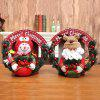 Small Rattan Ring Pendant Door Hanging Christmas Wreath - BEAN RED
