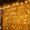 0.8m 216 LED Beads Curtain Light String - WARM WHITE