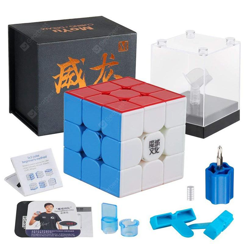 MoYu Weilong GTS3 M Speed ?GTS V3 3x3x3 Stickerless Magnetic Cube Puzzle YJ8261 - Multi-A