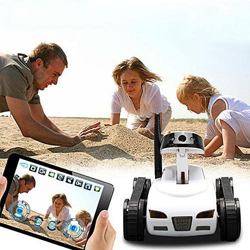 777 - 270 WiFi FPV Tank Real-time Transmission Camera Video Military Model Toy Gift - White