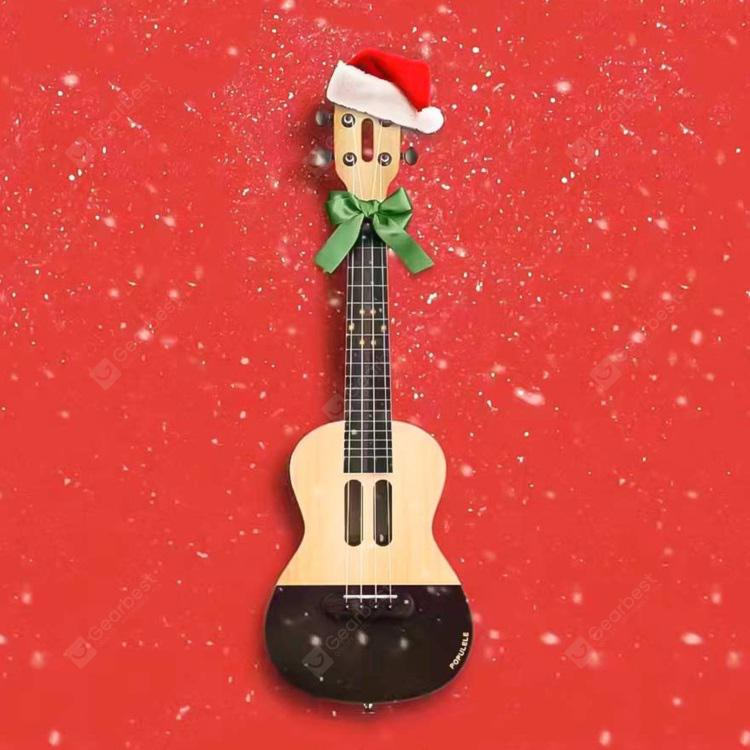 Xiaomi Populele APP LED Bluetooth USB Smart Ukulele 1pc - CREAM CHRISTMAS SUBJECT