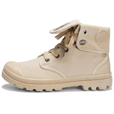 Men Stylish Wear-resistant Solid Leisure High-top Boots
