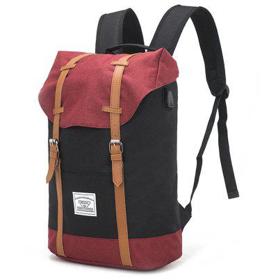 Men's Backpack USB Rechargeable Large Capacity