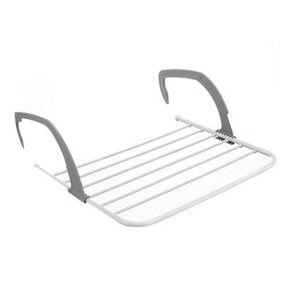 Balcony Indoor Outdoor Telescopic Clothes Pole Folding Drying Rack
