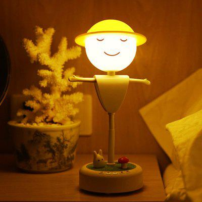 Charging Model  White LED Scarecrow Bedside Night Light