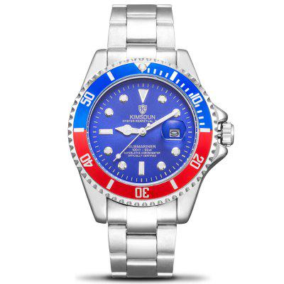 KIMSDUN K - 1022A Water Ghost Solid Stainless Steel Belt Men's Waterproof Luminous Automatic Mechanical Watch