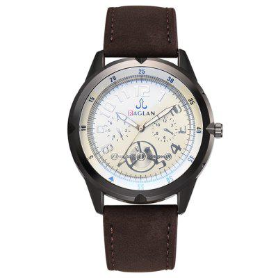 Fashion Business High Quality PU Leather Quartz Watch
