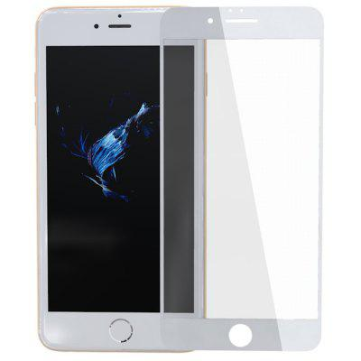 ZK Cloud Screen Series 2.5D Serigrafia a schermo intero Pellicola temperata bianca per iPhone 6 Plus