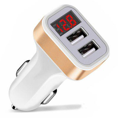 Dual USB 12-24V 2.1A with Display Car Charger