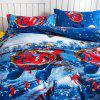 Christmas Happy Santa Gift 3D Bed 2pcs - BLU