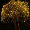 220V Outdoor Fishing Net 96 LED Waterproof Starry Sky Lights for Party Wedding Christmas Decoration - WARM WHITE
