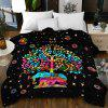 Velvet Composite  Soft 3D Single-sided Blanket Bed Cover - MULTI-C