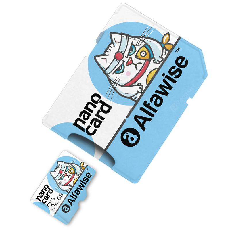 Alfawise TF To SD Memory Card Set Adapter - Light Blue