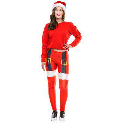 SKDK076 Christmas Costumes Women's Adult Sweatpants Autumn Print Pants