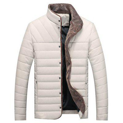 Herbst-Winter-Kragen Selbstzucht Warm Men Cotton Jacket