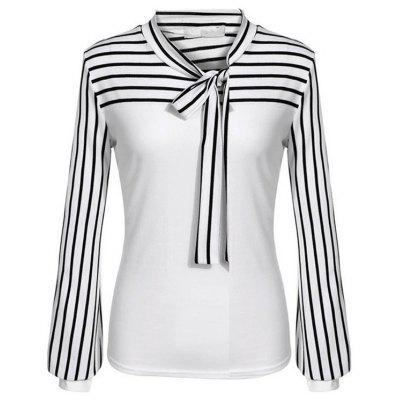 HQ0018 Women Loose Long Sleeve Fashionable Stripe Blouse