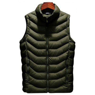 803 - A230 Autumn And Winter Male Korean Version Of The Self-cultivation Stand Collar Cotton Coat Small Vest