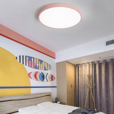 Ultra-thin Color Led Children's Study Bedroom Round Living Room Ceiling Lamp