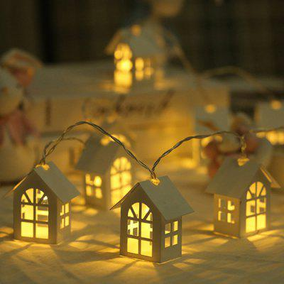 3m LED Small Nordic Christmas Decoration Wooden House Light String