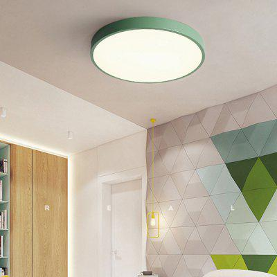 60cm Nordic Modern Minimalist Macaron Ceiling Color Round Living Room Lamp ( Green 48W )