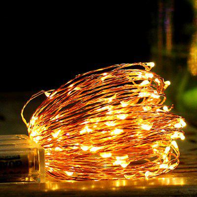 Battery Box Copper Wire String Christmas Decoration 5M 50 Stars String Lights