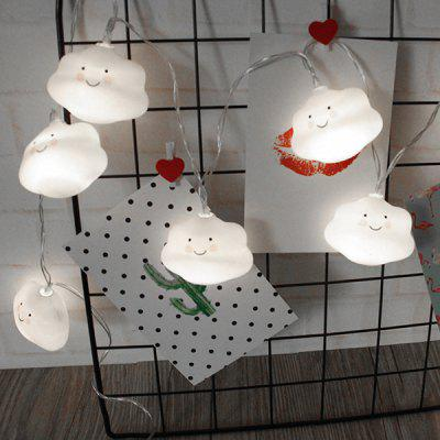 BRELONG Christmas Smiley Cloud 1.5 Meter 10 Licht Decoratieve Lichte String