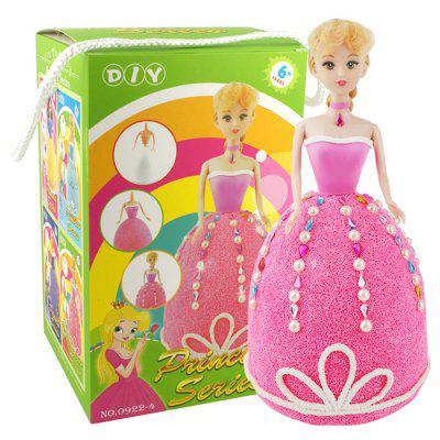 Princess DIY Light Clay Snow Mud Intelligent Handmade Toy Set for Children