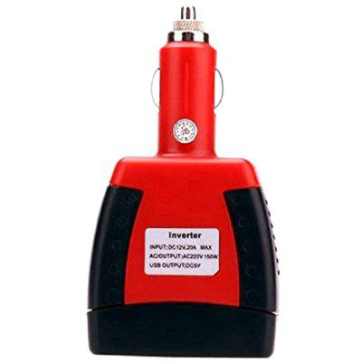 75W Car Power Adapter DC 12V To AC 220V