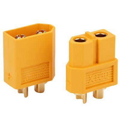 100X XT60 Male Female Bullet Connectors For RC Battery