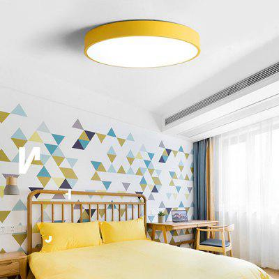 Nordic Ultra-thin Color Led Modern Minimalist Macaron Ceiling Lamp ( Yellow 12W )