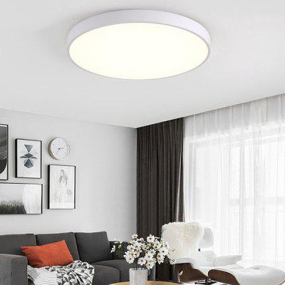 Nordic Modern Minimalist Macaron Ultra-thin Color Led Ceiling Lamp ( White 12W )