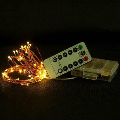 Light String Halloween Christmas Decoration Remote Control Waterproof Battery Box Copper Wire String