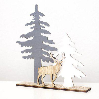 Christmas Creative Wooden DIY Assembled Desktop Ornament