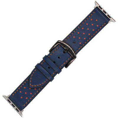 Поколение Polka Dot Mad Horse Leather Strap 42MM Применимо к iWatch 1/2/3 Generation