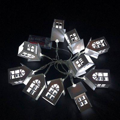 1.5m 10-LED Wooden House String Light for Christmas Room Decoration