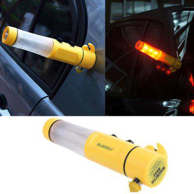 4 in 1 Car Emergency Safety Escape Hammer with LED Flashlight