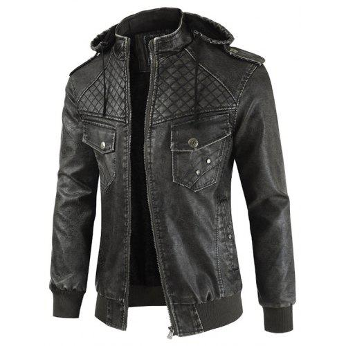 Men Comfortable Leisure Hooded Classic Zipper Jacket