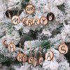 Christmas Wooden Decorations Tree Pendant Solid Wood DIY Painting Board Fir Crafts 6cm 10PCS - BURLYWOOD