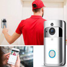 Video Wireless Doorbell 720P HD Home Security Camera - White