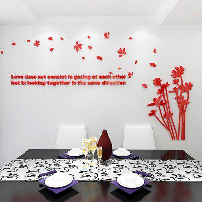 Flying Petals Acrylic Solid Wall Sticker