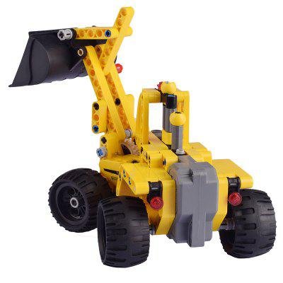 CaDA C52014W Pull Back Loader Building Blocks Toy